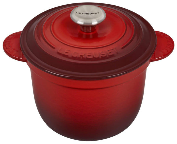 Le Creuset Cookware Cerise Signature Cast Iron Rice Pot Kaufmann Mercantile