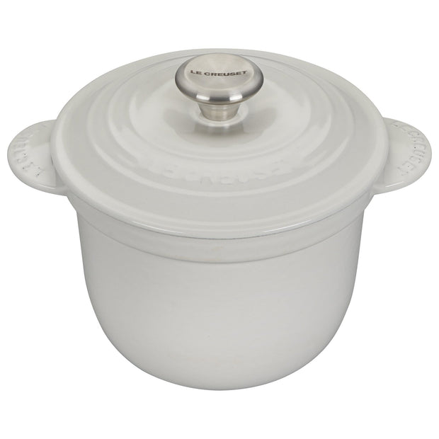 Le Creuset Cookware White Signature Cast Iron Rice Pot Kaufmann Mercantile