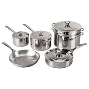 Le Creuset Cookware Stainless Steel 10-Piece Cookware Set Kaufmann Mercantile