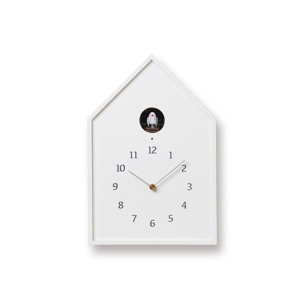 Lemnos Clocks White Birdhouse Clock Kaufmann Mercantile