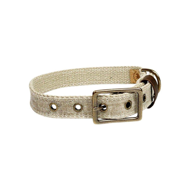 Little Donkey Supply Co. Collars & Harnesses Flax Linen Dog Collar Kaufmann Mercantile