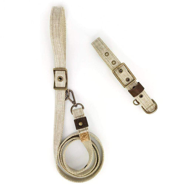 Little Donkey Supply Co. Leashes & Leads Flax Linen Adjustable Leash Kaufmann Mercantile