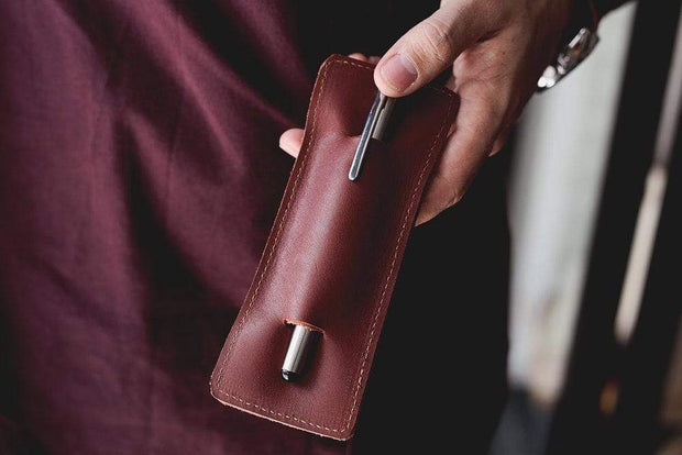Lo Esencial Notebooks & Writing Tools Handcrafted Leather Pen Holder Kaufmann Mercantile