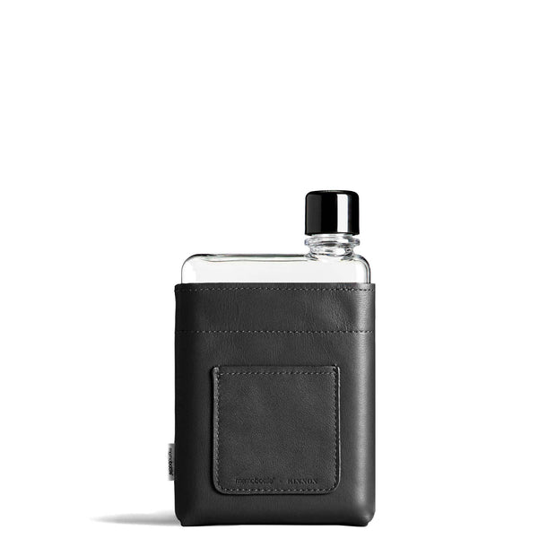 Memobottle Flasks & Water Bottles Default A6 Memobottle Black Leather Sleeve Kaufmann Mercantile
