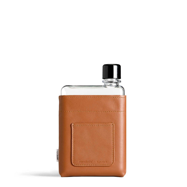Memobottle Flasks & Water Bottles A6 Leather Sleeve A6 Memobottle Tan Leather Sleeve Kaufmann Mercantile