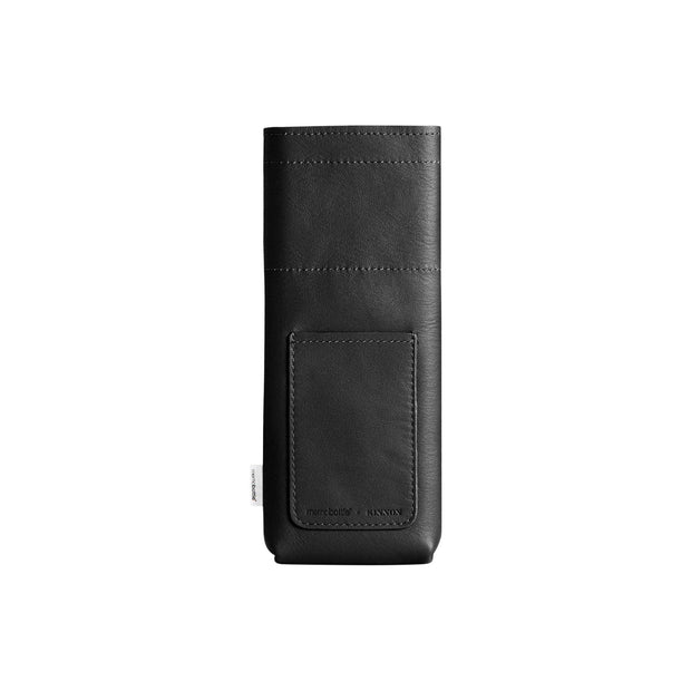 Memobottle Flasks & Water Bottles Default Slim Memobottle Black Leather Sleeve Kaufmann Mercantile
