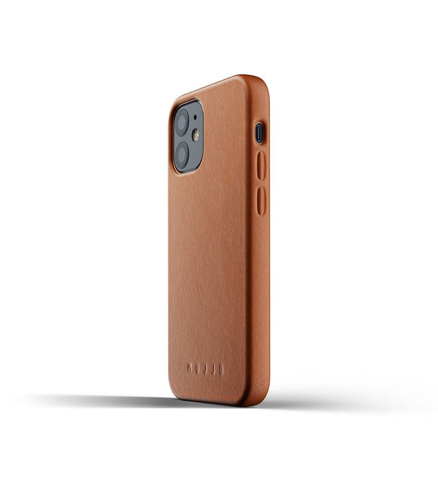 Mujjo Phone Cases Full Leather Case for iPhone 12 Mini - Tan Kaufmann Mercantile