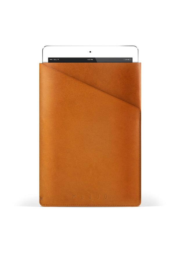 MUJJO Tech Cases Tan iPad Air Slim Fit Leather Sleeve Kaufmann Mercantile