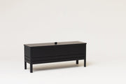 NORMODE Decor Form & Refine A Line Storage Bench, Black-stained Kaufmann Mercantile