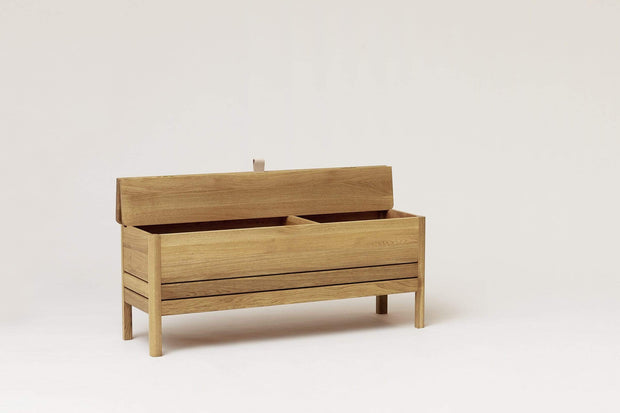 NORMODE Decor Form & Refine A Line Storage Bench, Oak Kaufmann Mercantile