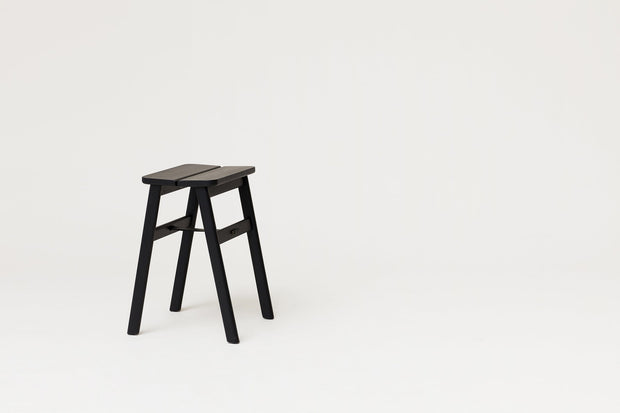 NORMODE Decor Form & Refine Angle Stool, Black-stained Kaufmann Mercantile