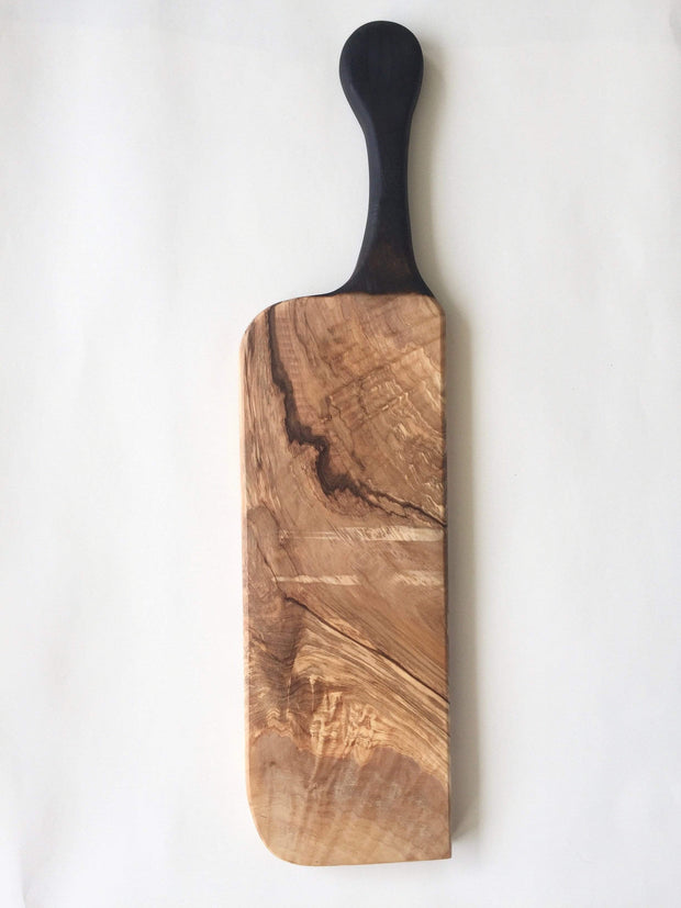 Olivewood Knives & Cutting Boards Blackened Handle Cutting & Serving Board Kaufmann Mercantile