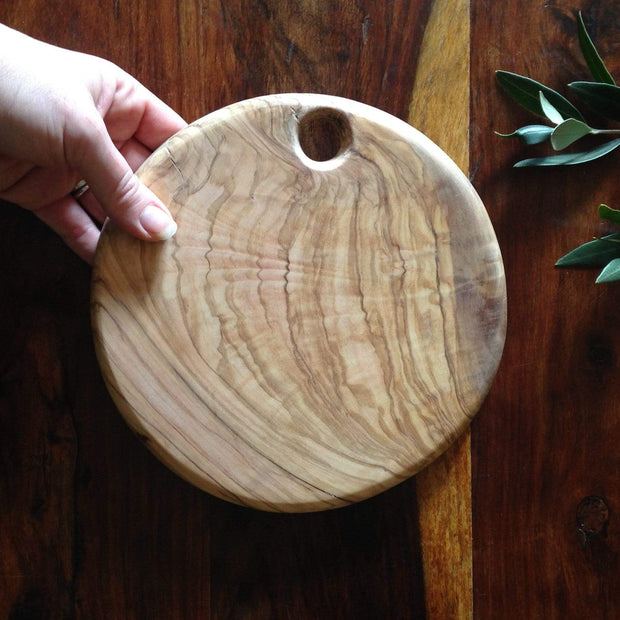Olivewood Knives & Cutting Boards Large Circle Cutting & Serving Board Kaufmann Mercantile
