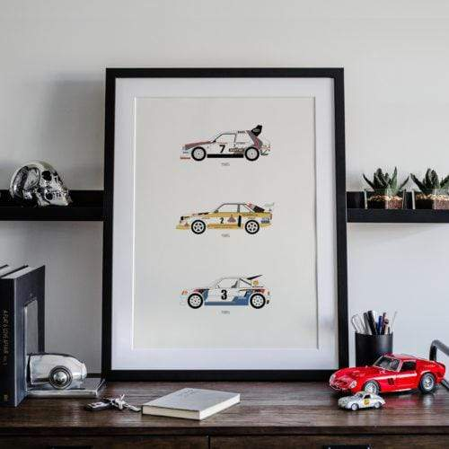 Rear View Prints Home Decor A Tribute to Rally B – Group B Poster Kaufmann Mercantile