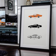 Rear View Prints Home Decor Amped Up Autos – 80s TV Poster Kaufmann Mercantile