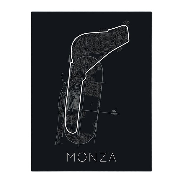 "Rear View Prints Home Decor 12"" X 16"" / Black Full -Throttle Formula 1 – Monza Poster Kaufmann Mercantile"