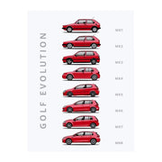 "Rear View Prints Home Decor 12"" X 16"" / Red Golf - Car Poster Kaufmann Mercantile"