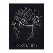 "Rear View Prints Home Decor 12"" X 16"" / Black Rhythm of the Night - Marina Bay Street Circuit Kaufmann Mercantile"