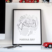 Rear View Prints Home Decor Rhythm of the Night - Marina Bay Street Circuit Kaufmann Mercantile