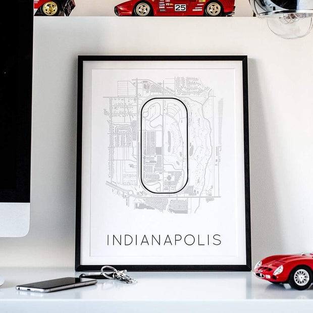 Rear View Prints Home Decor The Brickyard - Indianapolis Motor Speedway Race Track Poster Kaufmann Mercantile