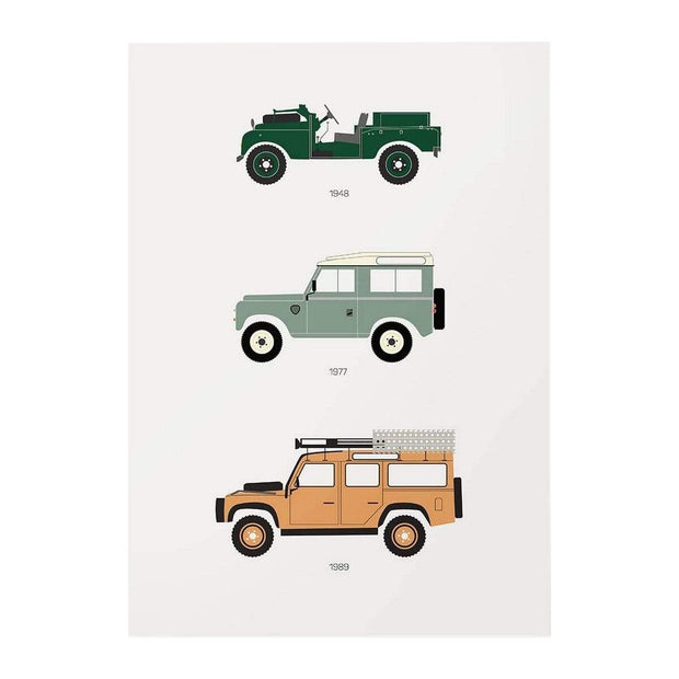 Rear View Prints Home Decor The British Workhorse - Defender Poster Kaufmann Mercantile