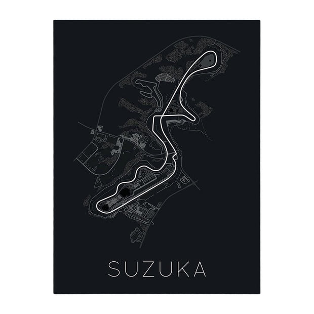 "Rear View Prints Home Decor 12"" X 16"" / Black The Legendary 8 – Suzuka Circuit Poster Kaufmann Mercantile"