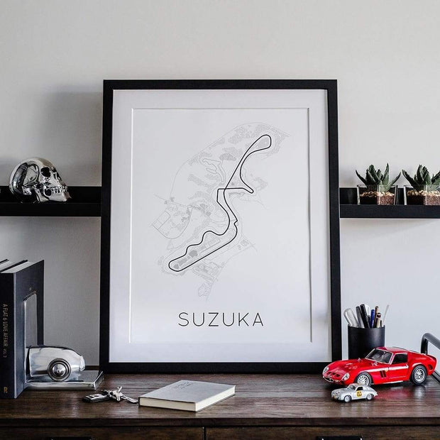 Rear View Prints Home Decor The Legendary 8 – Suzuka Circuit Poster Kaufmann Mercantile