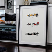 Rear View Prints Home Decor Yield the Track - McLaren Poster Kaufmann Mercantile