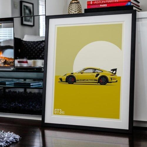 Rear View Prints Photography & Prints High-Performance Vintage - 911 GT3 Poster Kaufmann Mercantile