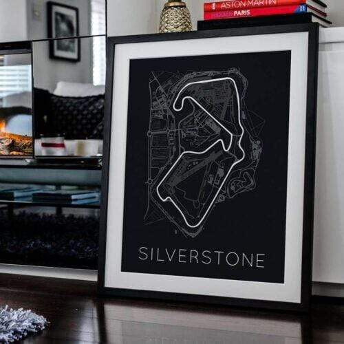 Rear View Prints Photography & Prints The Blueprint of Velocity – Silverstone Circuit Poster Kaufmann Mercantile