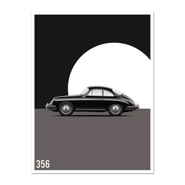 "Rear View Prints Photography & Prints Black / 21 x 29.7 cm / 8"" x 12"" / Vertical Vintage Excellence - 356 Car Poster Kaufmann Mercantile"