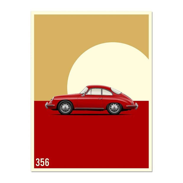 Rear View Prints Photography & Prints Vintage Excellence - 356 Car Poster Kaufmann Mercantile