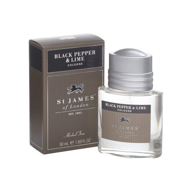 SAMSON...A Men's Emporium Body Care St. James of London Black Pepper & Persian Lime Cologne Kaufmann Mercantile