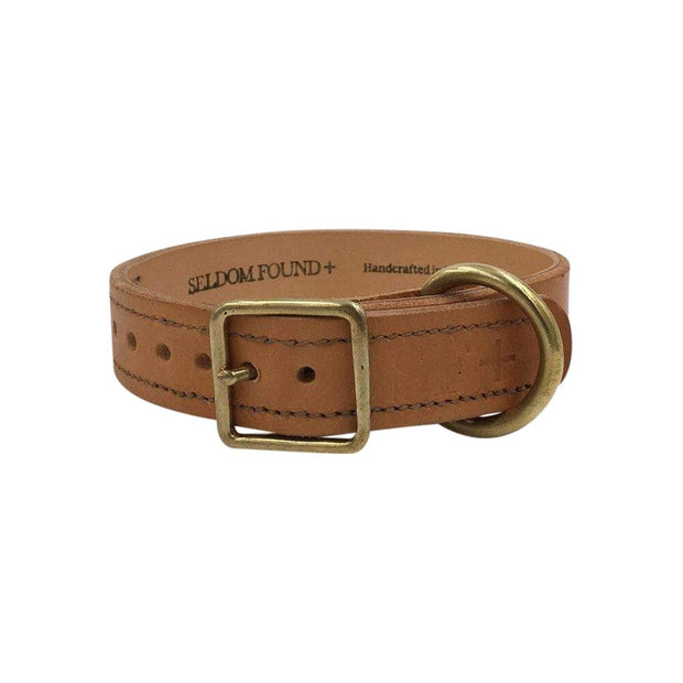 Seldom Found Collars + Harnesses Artisan Leather Dog Collar in Natural Tan Kaufmann Mercantile