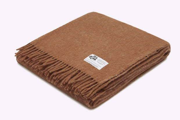 Seljak Cushions & Throws Fringe Ochre Wool Blanket Kaufmann Mercantile
