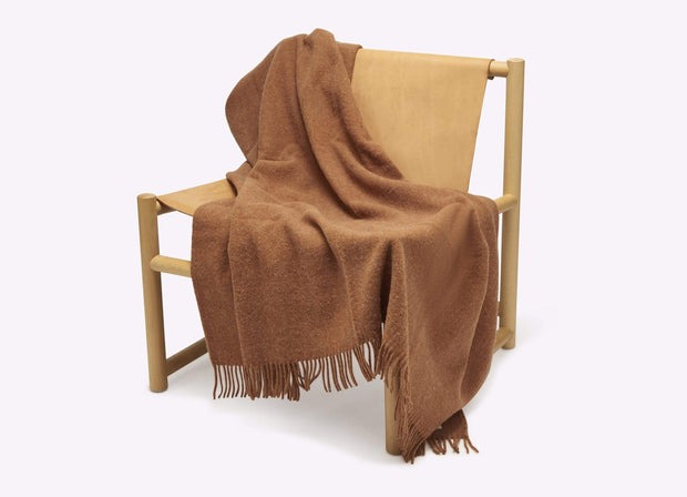 Seljak Cushions & Throws Ochre Wool Blanket Kaufmann Mercantile