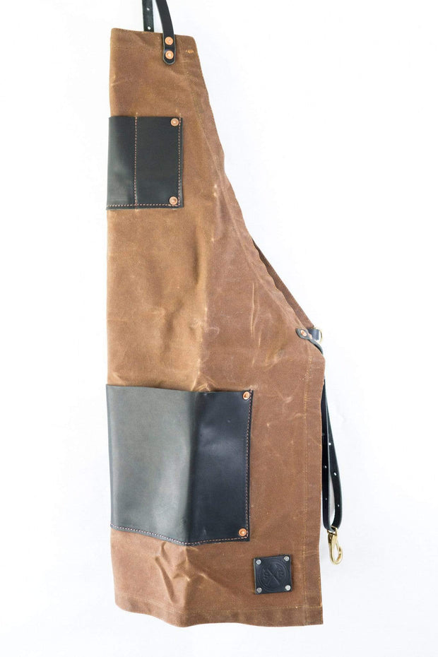 Sturdy Brothers Outdoor Accessories Charles Master Waxed Canvas and Leather Apron Kaufmann Mercantile