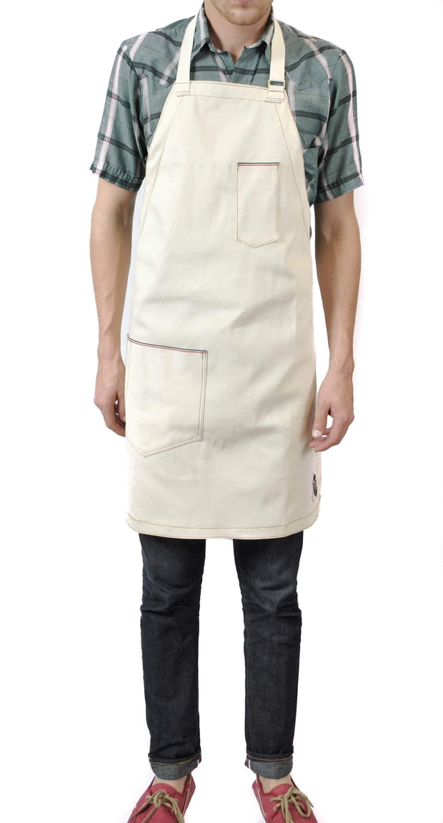 Sturdy Brothers Outdoor Accessories Jack Selvedge Natural Denim Apron Kaufmann Mercantile