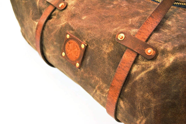 Sturdy Brothers Weekenders & Holdalls Hudson Waxed Canvas Duffle Bag Kaufmann Mercantile