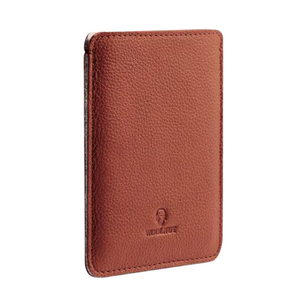 Woolnut Wallets & Card Cases Cognac Brown Passport Sleeve Kaufmann Mercantile