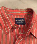 Vintage Wrangler Button Up Candy Cane