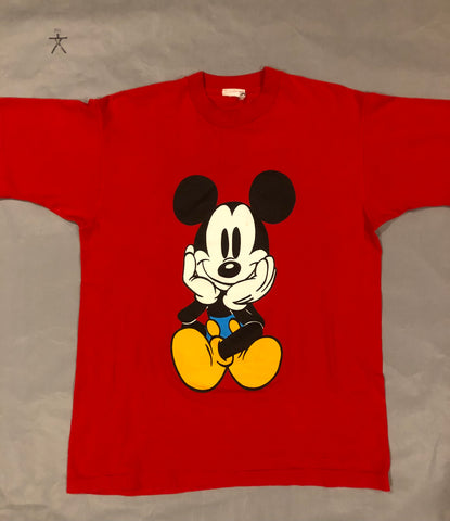 Vintage Mickey Mouse Red Shirt
