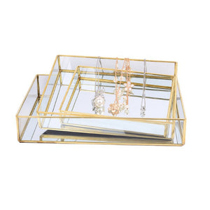 Life's Golden Mirrored Tray