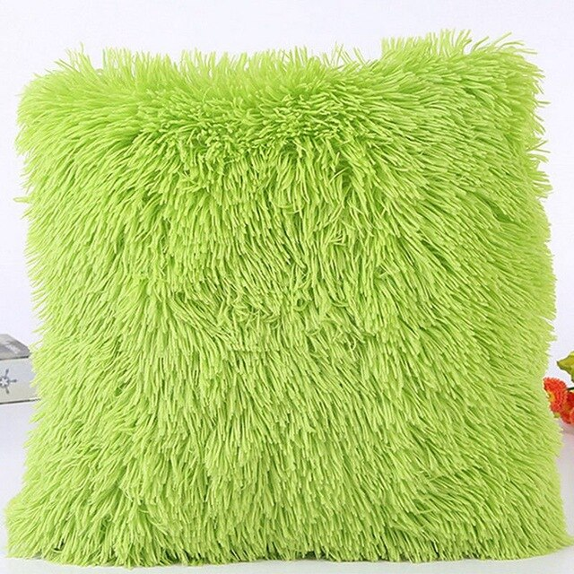 Miss Puff's Fluff Throw Pillow Cover