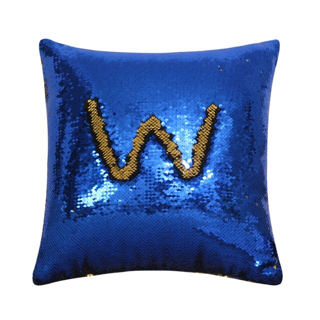 See You On the Flip Side Sequin Throw Pillow Cover