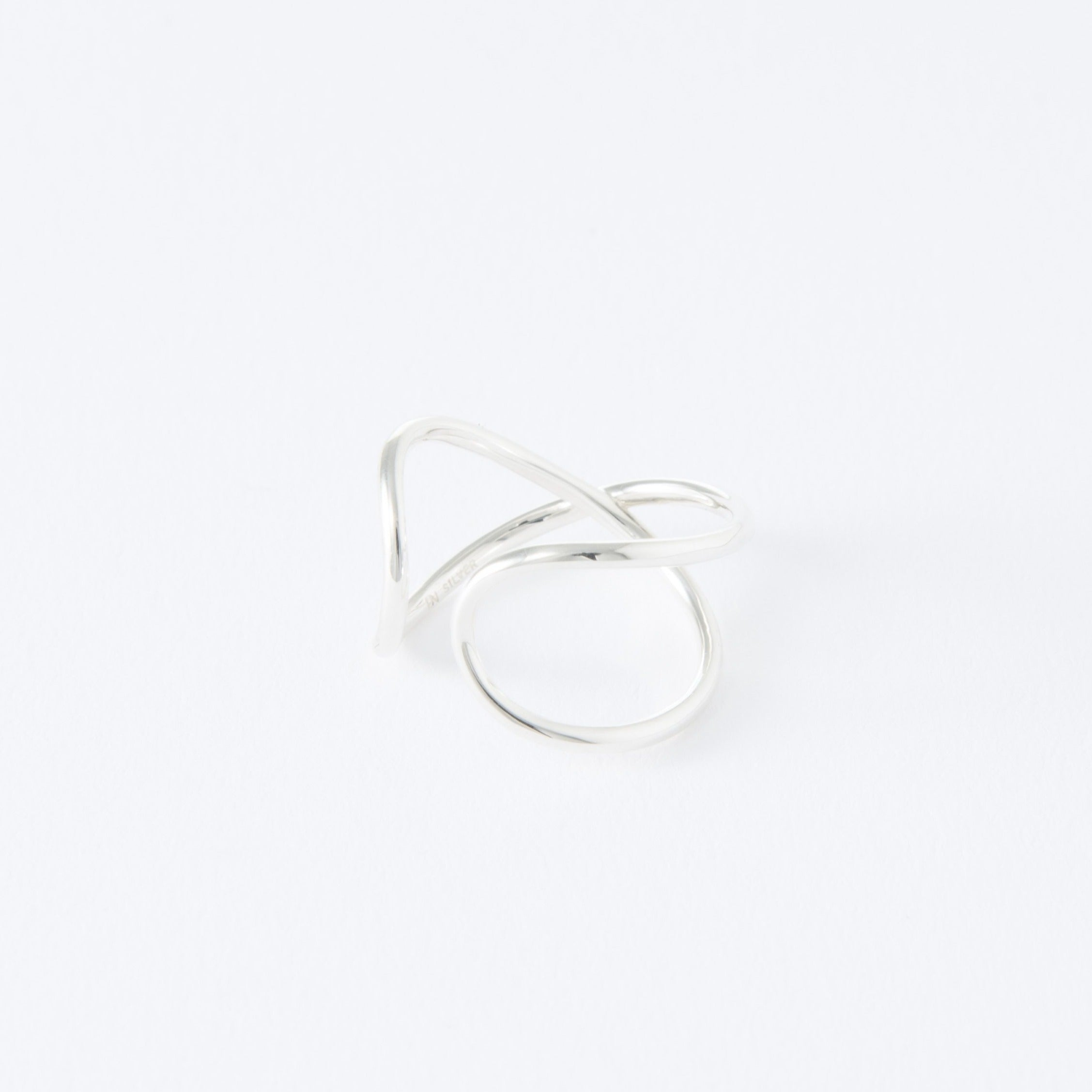 silver x ear cuff[made to order]