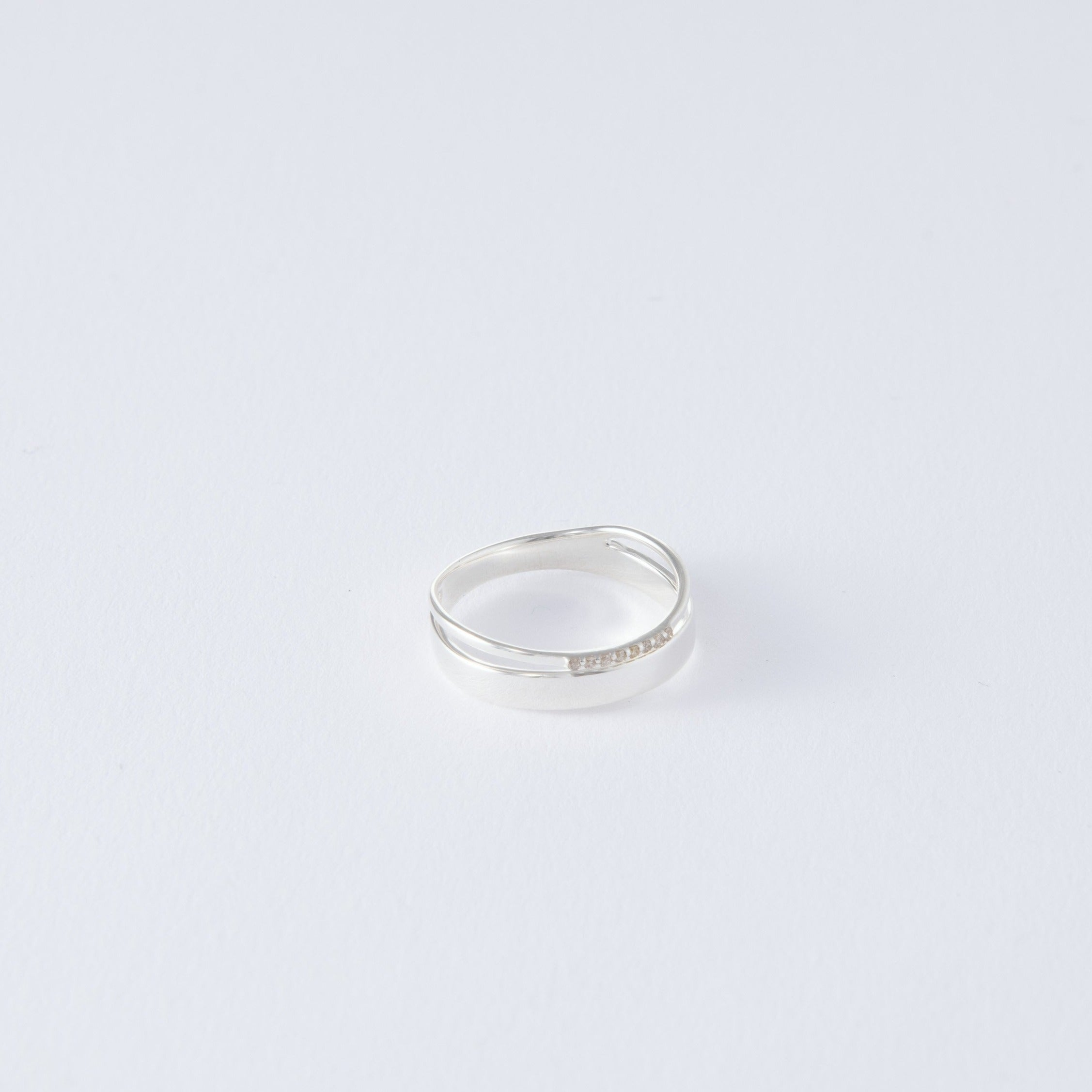 silver layered 8 stone ring[made to order]