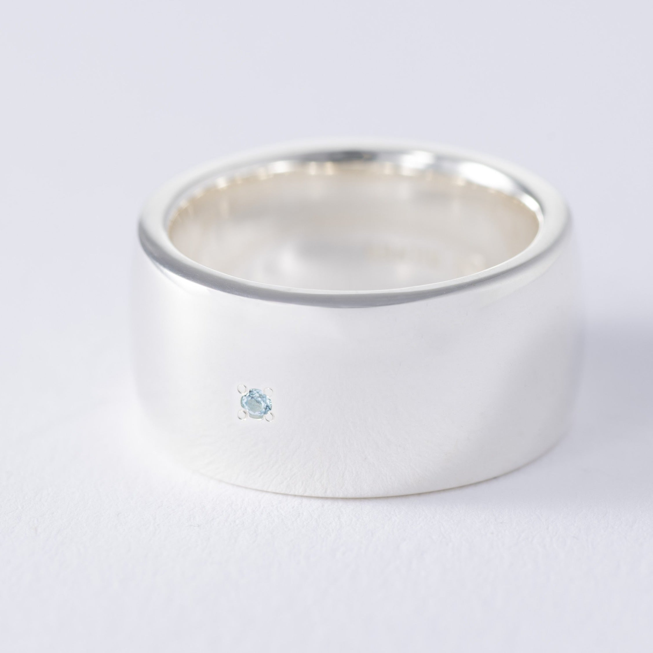 【11月誕生石】silver birthstone blue topaz ring[made to order]
