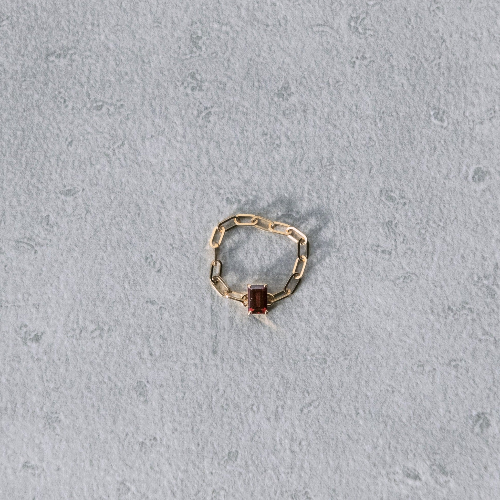 garnet chain ring[made to order]