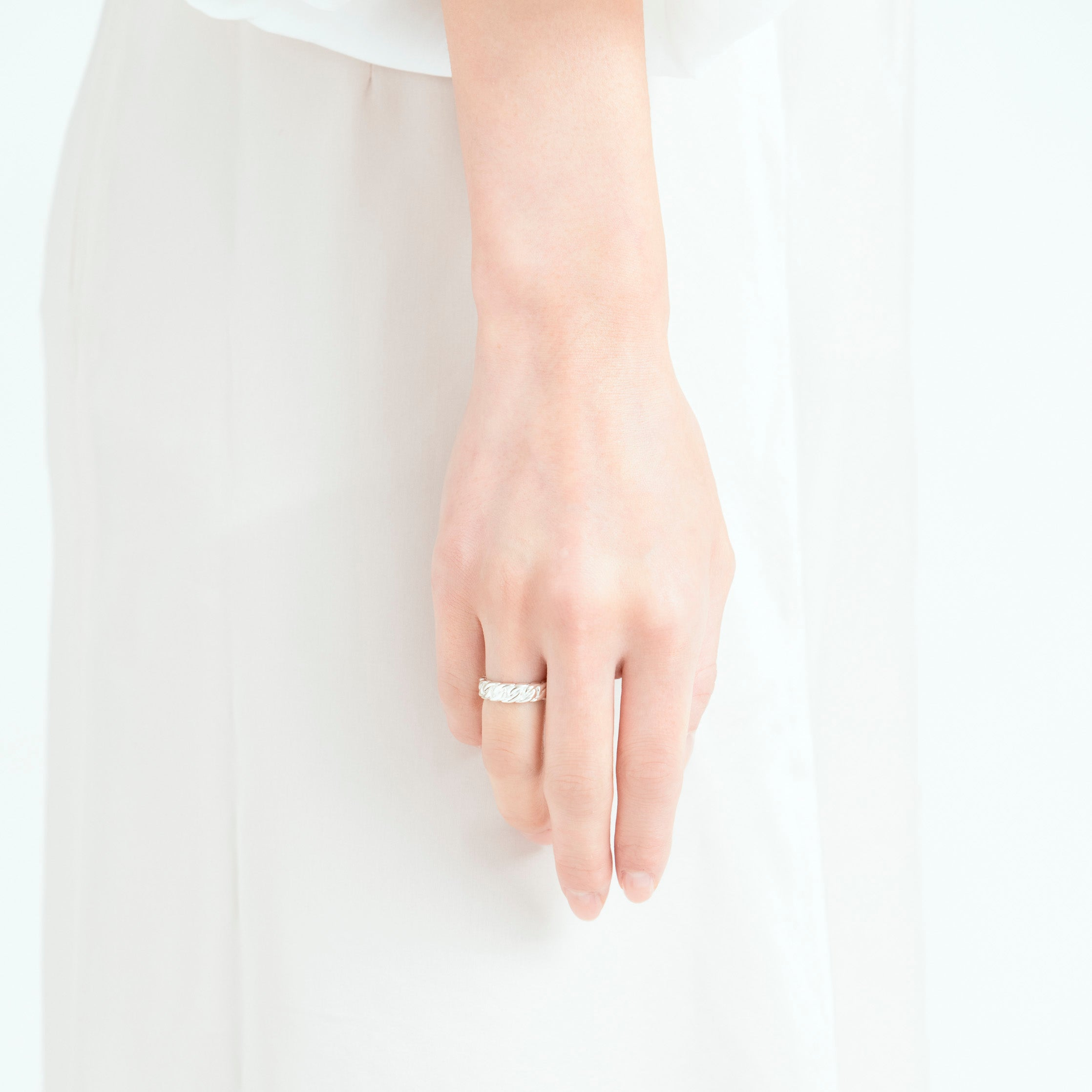 silver chain ring[made to order]